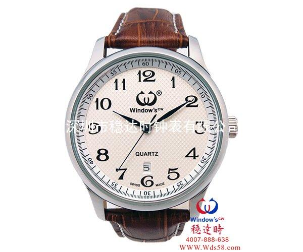 稳达时经典男装不锈钢商务手表批发
