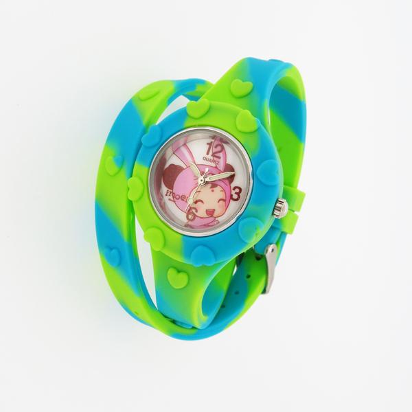 稳达时钟表厂硅胶长表带儿童手表定制