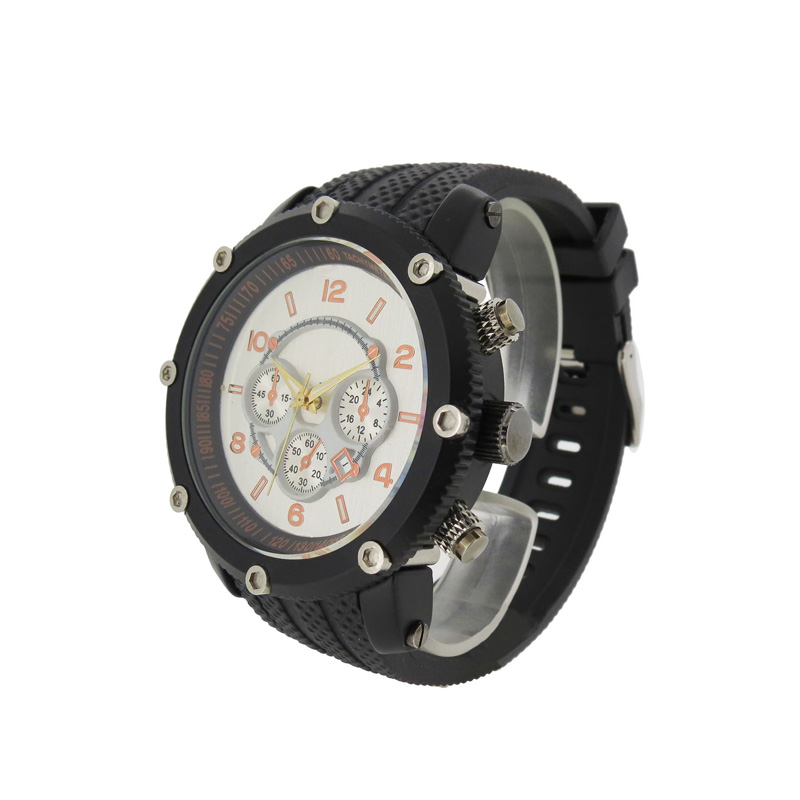 稳达时大圆表盘优质PVC表带休闲运动男式防水手表定制