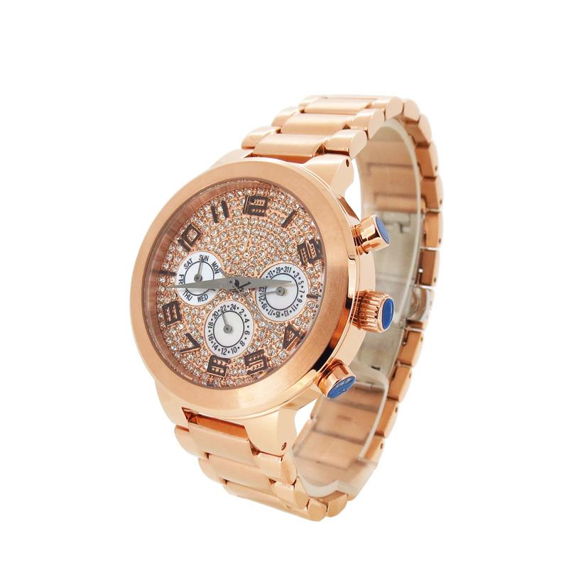 稳达时皇冠珠宝女款不锈钢女士手表