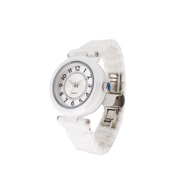 稳达时精致陶瓷女士商务手表定制