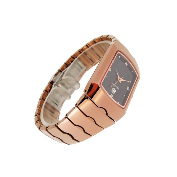稳达时玫瑰金特色钨钢手表定做工厂
