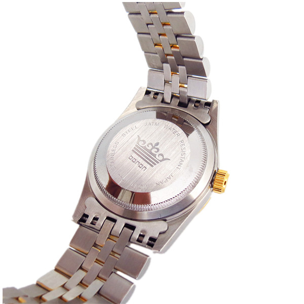 不锈钢间金多功能日历手表定制厂家
