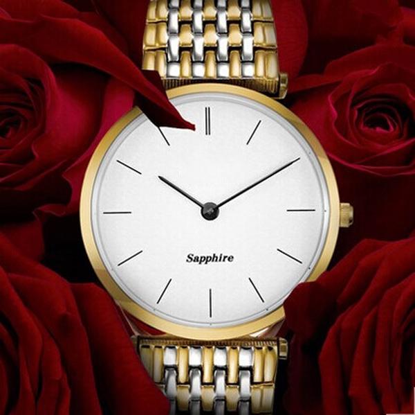 稳达时礼品手表工厂供应不锈钢套装情侣礼品手表定制代工