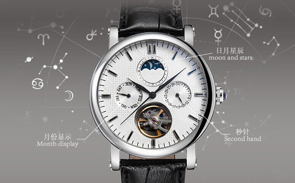 稳达时手表定制厂家供应不锈钢男士多功能机械手表定制