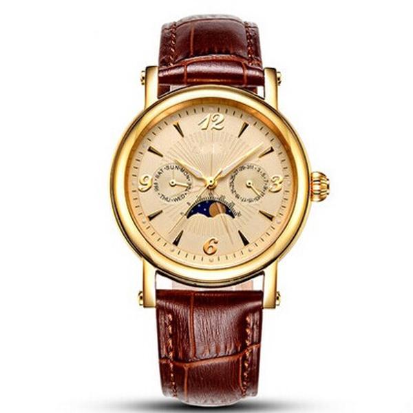 手表定制工厂供应经典男士多功能商务机械手表定制