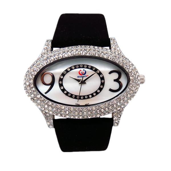 手表批发市场热销款女士镶钻手表批发厂家直销【稳达时钟表】