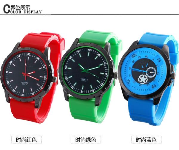 手表批发厂家供应男士运动硅胶礼品手表厂家直销【稳达时钟表】