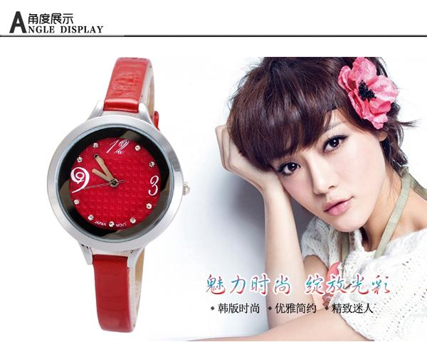 手表批发厂家供应韩版新款水钻女士手表批发【稳达时钟表】