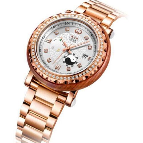 稳达时手表工厂红檀木手表私人定制