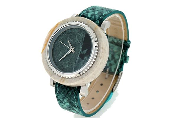 可换圈款玉石皮带手表可定制—稳达时钟表出品